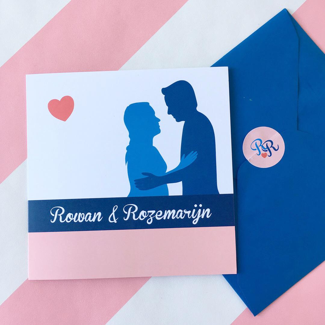 trouwkaart Rowan & Roos